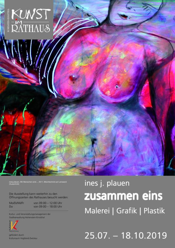 ines j. plauen - Kunst im Rathaus - Plakat